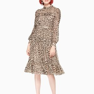 Kate Spade New York Leopard Clip Dot Minidress